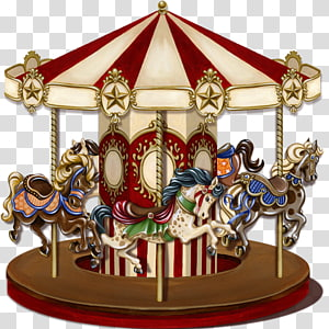 beige and red horse carousel illustration, Vintage Carousel Horse Victorian Carousel , horse PNG clipart
