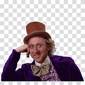 smiling man wearing brown hat, Gene Wilder Willy Wonka & the Chocolate Factory Wonka Bar The Willy Wonka Candy Company, meme PNG clipart