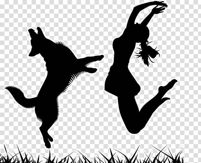 Dog Musical canine freestyle Silhouette Canidae, Dancing Dog PNG