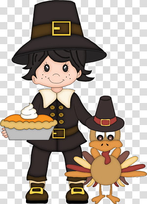 Thanksgiving Pilgrims Child , The little boy and the little duck PNG clipart