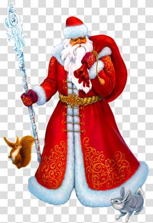 Ded Moroz Snegurochka Santa Claus Ziuzia grandfather, claus PNG