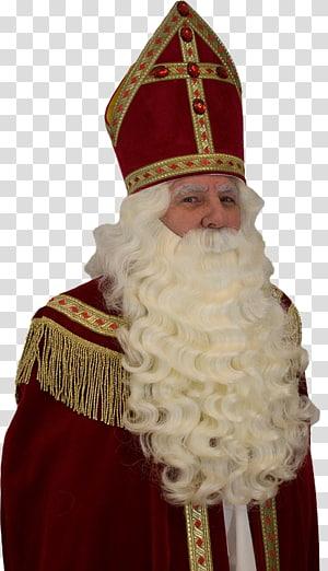 Santa Claus Sinterklaas Netherlands Wig Zwarte Piet, santa claus PNG clipart