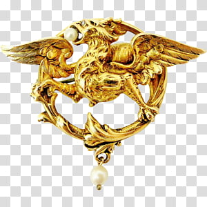 Brooch Gold Jewellery Charms & Pendants Pin, gold PNG