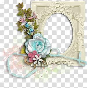 Frames Flower Drawing, scrap PNG clipart