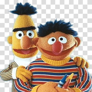 Bert and Ernie from Sesame Street, Sesame Street Bert and Ernie Pencils PNG