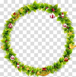 Wreath Christmas Santa Claus Garland , Christmas wreath PNG clipart