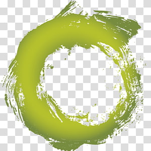 green circle ink PNG clipart