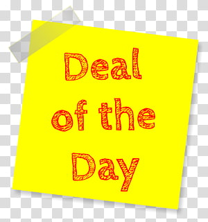 deal of the day text overlay, Sales Promotion, Deal Sticky Note PNG