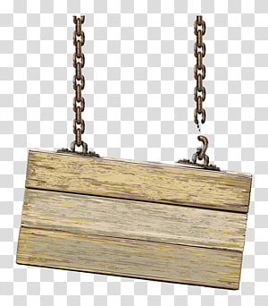 brown wooden hanged signage with chains, Wood Sign Illustration, Index cards PNG clipart