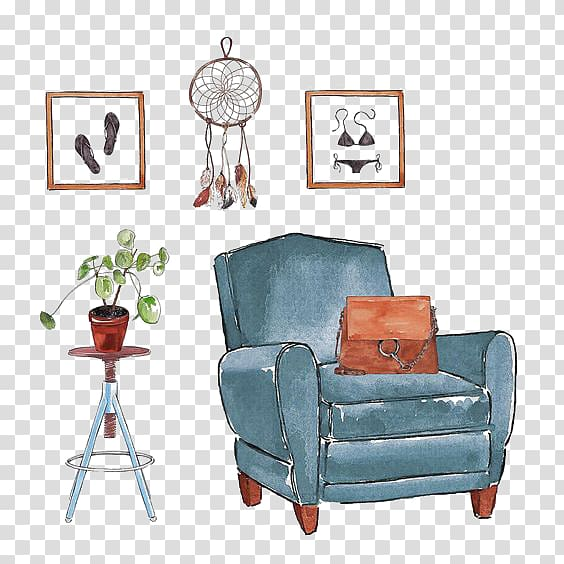 Interior Design Services Drawing Illustration, Art House PNG