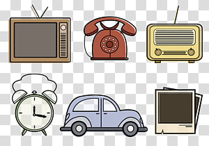 Vintage Object, retro objects PNG clipart