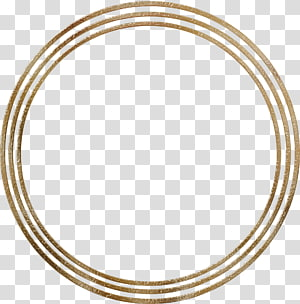 three round gold frames, Ring , Round frame PNG clipart