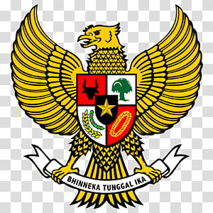 National emblem of Indonesia Garuda Pancasila, symbol PNG clipart