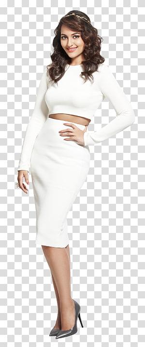women's white long-sleeved top and long skirt, Sonakshi Sinha Dabangg 4K resolution Bollywood, Sonakshi Sinha PNG