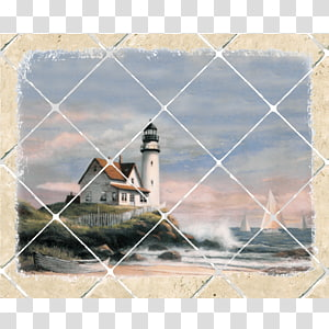 Cape Hatteras Lighthouse Window Painting Wall, window PNG