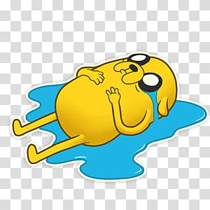 Sticker Telegram Jake the Dog Messaging apps, the adventure time PNG