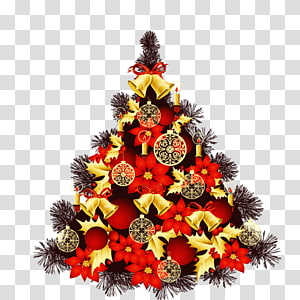 Christmas tree New Year Christmas and holiday season Greeting card, Christmas tree PNG clipart
