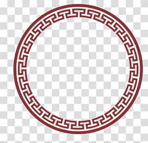 chinese classical style circle border PNG