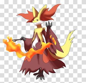 Pokémon X and Y Delphox Fennekin Evolution Braixen, Shiny Delphox PNG