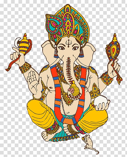 Ganesha illustration, Ganesha Ganesh Chaturthi , ganesha PNG