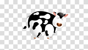 Dairy cattle Cartoon, Dairy cow PNG