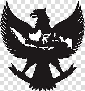 silhouette of bird , National emblem of Indonesia Garuda Indonesia Symbol, vektor PNG clipart