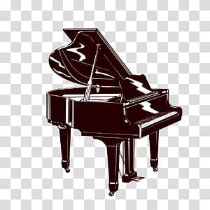 Piano Musical instrument Silhouette, piano PNG