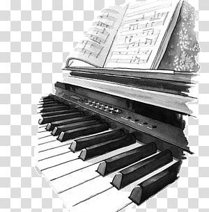 Digital piano Electric piano Drawing Art, piano PNG