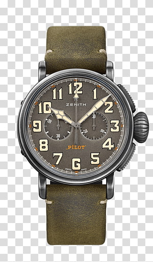 Zenith Chronograph Automatic watch Watchmaker, pilot the future PNG