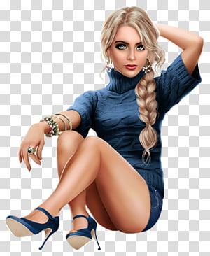 Fashion illustration Woman Milan Fashion Week, woman PNG