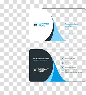 Business card Visiting card Flat design, Business cards, two Company Name cards illustrations PNG clipart