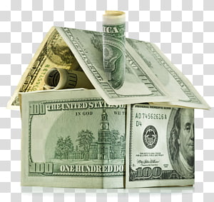 Money House Bank Home equity line of credit Saving, Dollar bills house PNG clipart