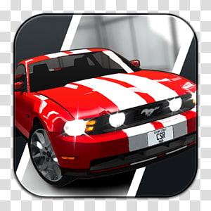 red Ford Mustang, classic car automotive exterior muscle car brand, CSR Racing PNG clipart