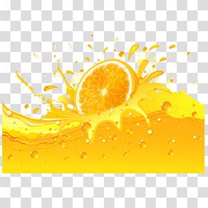 sliced orange fruit illustration, Orange juice Soft drink Lemon, orange juice and oranges PNG clipart