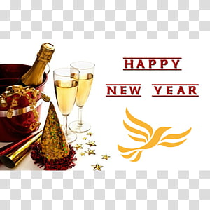 New Year\'s Day New Year\'s Eve Champagne Wish, the new year dachoubin banner PNG clipart