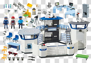 Playmobil City Action Police Headquarters with Prison (6919) Playmobil City Action 6872 Police Command Centre with Prison, Police PNG clipart
