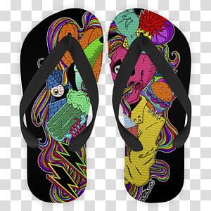 Flip-flops Shoe, cactus PNG clipart