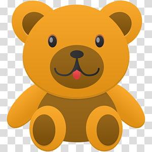 brown bear , teddy bear stuffed toy carnivoran, Bear PNG