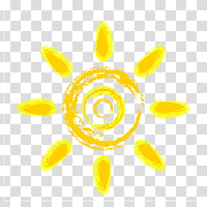 yellow cartoon summer sun decoration pattern PNG