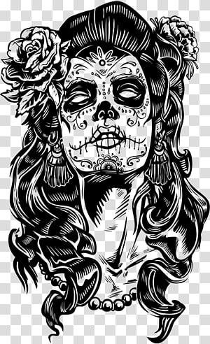 La Calavera Catrina Day of the Dead Paper Skull, Calavera Mexican PNG