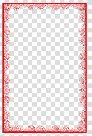red chinese border PNG clipart