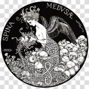 Medusa Poseidon Greek mythology Gorgon Perseus, chinese ink prints PNG