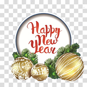 happy new year tags PNG clipart