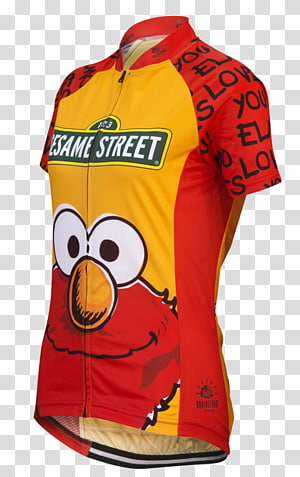 T-shirt Cycling jersey Elmo Sleeve, T-shirt PNG clipart