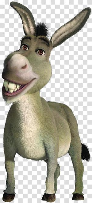 Donkey Shrek Princess Fiona Puss in Boots Dragon, Donkey PNG