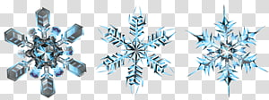 three blue snowflakes, Symmetry, Crystal Snowflakes PNG clipart