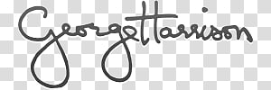 George Harrison handwritten text, Georges Harrison Signature PNG clipart
