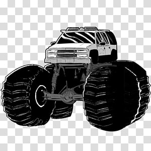 white monster truck illustration, wheel automotive exterior tire, Patrol Chief PNG clipart