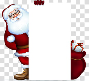 santa claus gift tag promotions PNG clipart
