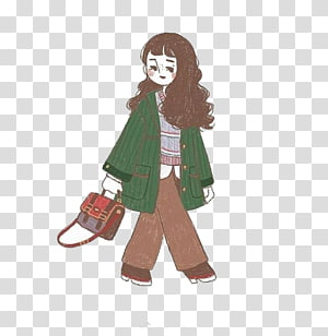 Fashion Drawing Doodle Illustration, Fashion girl PNG